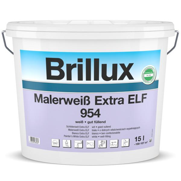 Brillux Innendispersion - 15 Liter Eimer - Malerweiß 954